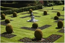 The Parterre Garden in summer at Kingston Lacy