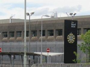 Royal Mint building in Llantrisant